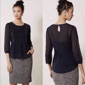 Anthropologie Maeve Top W/Cami Tunic Sheer